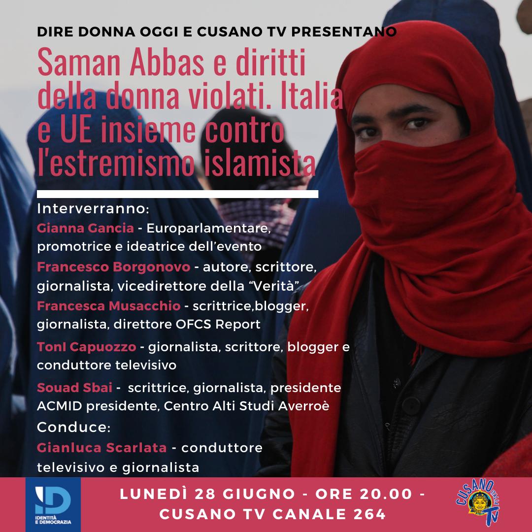 Evento: Saman Abbas e diritti della donna violati. Italia e UE - Alma News  24