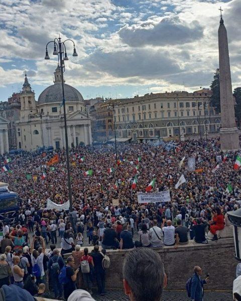roma manifestazione no green pass